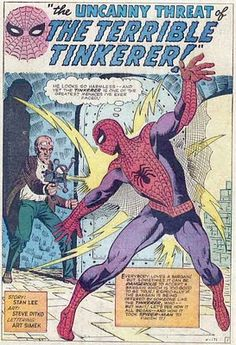 Amazing Spider-Man #2, the Terrible Tinkerer. Art by Steve Ditko.