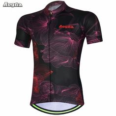 AOGDA 2017 Men Ropa Ciclismo Cycling Jerseys Bicycle Wear Breathable T-shirt Outdoor Sports Summer Bike Clothing Black-Red #Affiliate