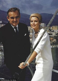 Prince Rainier and Princess Grace of Monaco, 1963.