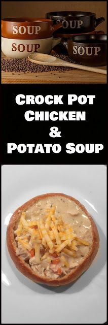 Meeshie's World: Creamy Crock Pot Chicken & Potato Soup
