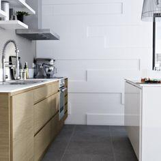 Cuisine blanc laqu on pinterest flagstone enfilade and dalle beton - Cuisine epura castorama ...
