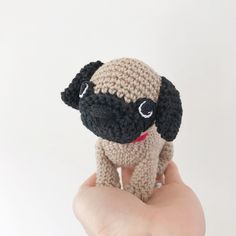 Made to Order PUG crochet amigurumi All Toys, Toy Sale, Jelly Beans, Pugs, Hand Sewing, Sewing Crafts, Dog Lovers, Crochet Hats, Make It Yourself