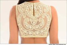 Top 5 Designer Latest Saree Blouse Back Neck Designs Blouse Back Neck Designs, Sari Blouse Designs, Saree Blouse Patterns, Blouse Styles, Saree Styles, Choli Designs, Indian Dresses, Indian Outfits, Sari Bluse