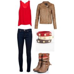 A fashion look from August 2012 featuring OTTE tops, AllSaints jackets and J Brand jeans. Browse and shop related looks.