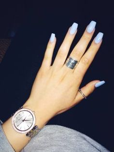 10 Top nail polish colors for spring - Page 9 of 11 - Stunning Lifestyles Gorgeous Nails, Pretty Nails, Hair And Nails, My Nails, Light Purple Nails, Pastel Blue Nails, Periwinkle Nails, Yellow Nails, Periwinkle Blue