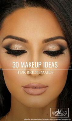 30 Spellbinding Bridesmaid Makeup For Every Woman ❤ Bridesmaids help to bride to shine even brighter on her wedding day. Therefore, it is so important to choose the right style and suitable bridesmaid makeup. See more: http://www.weddingforward.com/bridesmaid-makeup/
