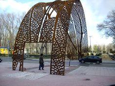 Laser cut panels. Juanjo Novella by Public Art by Novella,