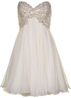 Forever Unique Womens Sophia Ivory Prom Dress