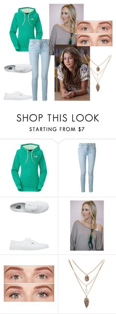 """""""untitled 3"""" by swimt0th3s3a ❤ liked on Polyvore featuring The North Face, Frame, Vans, JULIANNE and Benefit"""