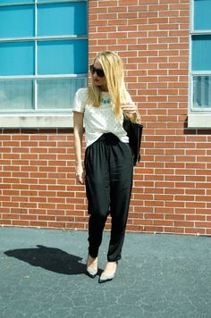 Ruffled Perfection Blog | Harem Pants #outfits #outfitideas