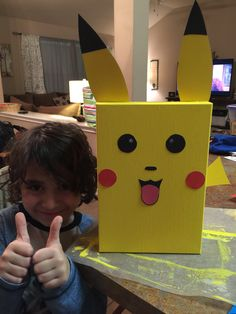 Success! My son asked for a Pikachu Valentine box and we did it! He is so proud.