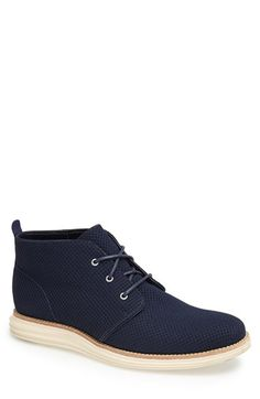 Free shipping and returns on Cole Haan 'LunarGrand' Chukka Boot (Men) at Nordstrom.com. A contrasting Nike Lunar sole grounds a sweet chukka boot crafted from soft, well-textured fabric.