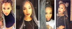 gray box braids. Love this color on her.