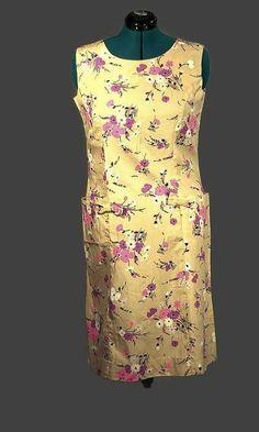 Shaker Square Vintage 1960 Sleeveless Shift Dress, Plus Size