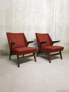 Mid century Danish lounge chairs Cees Braakman Pastoe |