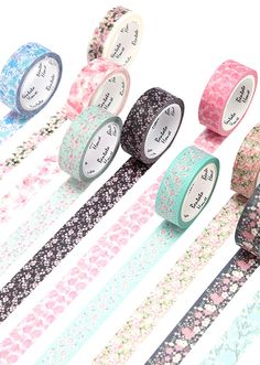 Spring Blossom Washi Tapes are a prefect addition to bullet journaling and scrapbooking projects. Add a little floral touch to whatever you create. Washi Tape Storage, Washi Tape Set, Masking Tape, Scotch, Washi Tape Planner, Cool School Supplies, Cute Stationary, Decorative Tape, Stationery Items