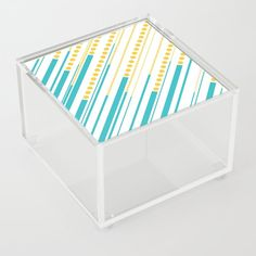 Dashes & Dots - Turquoise and Yellow Acrylic Box by laec Dash And Dot, Good Advice For Life, Storage Places, Acrylic Box, Dots, Turquoise, Yellow, Store, Stitches