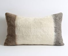 Goat fur kilim pillow cover  Add a touch of inspiration to your rooms through unique kilim pillows! Change the theme of any room or office without changing your furniture !!!  ● Made of goat hair kilim ● 12 x 20 (30cm x 50cm) approx. ● Back part of the kilim cushions are manufactured by cotton fabric and hidden zipper.  Care: Dry cleaning only.  Shipping :  ●●All items delivery by UPS (2-3 days delivery)●● ● All destination expenses duties/taxes etc. will be paid by receiver.  # PILLOW I...