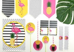Flamingle Party Pack Party like a Pineapple with the Bitty Bash Flamingle Party Pack. Festive flamingos and tropical pineapples will add a touch of summer to any occasion. Don't let party planning ruffle your feathers; Bitty Bash can help you host the perfect Flamingle!