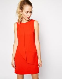 Oasis Drape Front Crepe Shift Dress
