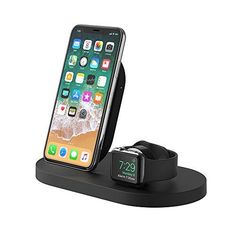 Apple AirPods - Belkin Boost Up Wireless Charging Dock (Apple Charging Station for iPhone + Apple Watch + USB Port) Apple Watch Charging Stand, iPhone Charging Station, iPhone Charging Dock (Black) Apple Watch Ipad, Iphone Apple Watch, Apple Watch Serie 1, Apple Charging Station, Apple Watch Charging Stand, Docking Station, Charging Stations, Iphone 5c, Coque Iphone