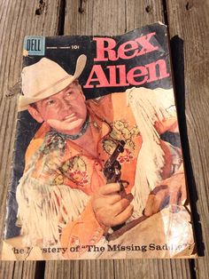 Vintage 1950's Rex Allen Cowboy Comic Book by LooseChipsWoodWork
