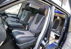 Leather seats for VW camper vans Van Conversion Interior, Camper Van Conversion Diy, Bike Storage In Van, Vw Camper Conversions, Bus Girl, Campervan Interior, The Great Escape, Camper Renovation, Vw T