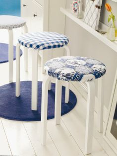 padded, covered seat for IKEA stool