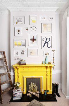 angled fireplace bookshelves - Google Search