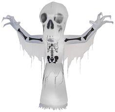 10' Airblown Short Circuit Thunder Bare Bones Halloween Inflatable