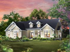 Abigail Traditional Ranch Home Plan 121D-0011 | House Plans and More