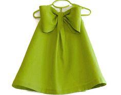 Big Bow Dress Girls Spring Summer Dress Linen Blend Toddler
