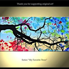 "Saatchi Online Artist Isao Auer; Painting, ""My favorite Trees - Etsy - ColorinaArt"" #art"
