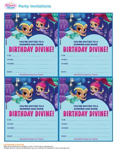 http://www.nickelodeonparents.com/genie-birthday-party-invitations/