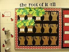 "Greek and Latin Roots~  Fun way to bring in spring, adding ""leaves"" with new words learned during each lesson. Teaching Vocabulary, Vocabulary Words, Teaching Writing, Teaching Tools, Teaching Resources, Teaching Ideas, Teaching Displays, Vocabulary Ideas, Classroom Bulletin Boards"