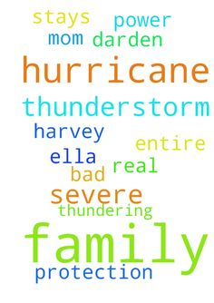 Pray for family severe thunderstorm from hurricane - Pray for family severe thunderstorm from hurricane Harvey pray power stays on and protection for my mom ella just pray for the entire darden family thundering real bad Posted at: https://prayerrequest.com/t/QrS #pray #prayer #request #prayerrequest