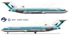 Republic Airlines Boeing 727-2S7