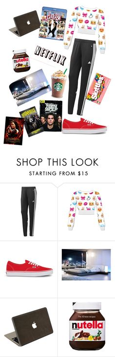 """""""Movie night"""" by rroorrii ❤ liked on Polyvore featuring adidas, Vans, Modloft, Valentine Goods, ASOS and River Island"""