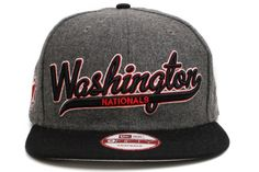 NEW ERA Washington Nationals Scripter 2 9Fifty Snapback    Grey / Black / Red / White    This 9FIFTY cap features an embroidered (raised) Washington Nationals script team namesake at front, a stitched New Era flag at wearer's left side, and a stitched team logo at wearer's right side. A snapback closure for an adjustable fit. Interior includes branded taping and a moisture absorbing sweatband.  New Era flag may vary in color with the image featured on site.    100% Wool.