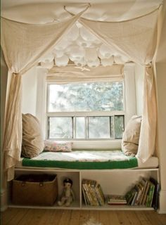 Perfect little nook Tent window bed