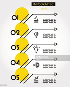 yellow linear five options with arrows, outline concept Graphic Design Tips, Graphic Design Posters, Book Design, Graphic Design Inspiration, Design Portfolio Layout, Layout Design, Dashboard Design, Index Design, Powerpoint Design Templates