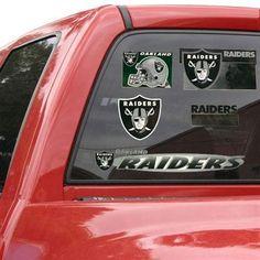 #UltimateTailgate  #Fanatics    Oakland Raiders 11'' x 17'' Window Clings Sheet