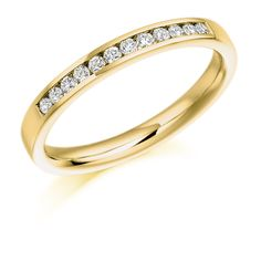 Channel Set 0.20ct Round Brilliant Cut Diamond Half Eternity Ring | Reppin & Jones Jewellers