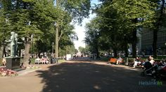 This is how Esplanadi in Helsinki looks in August. Helsinki, Dolores Park, Street View