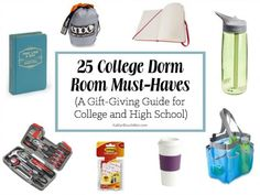 25 dorm room MUST-haves! I can't believe I never thought of #8.... and everything is just $3.55 to $99.99.