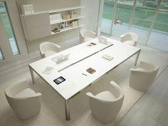 Estação de trabalho / mesa de reunião MORE 848 Linha Estel Office by ESTEL GROUP
