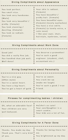 How to make someone's day: Give a compliment in English. Formulas for giving compliments. - learn English,compliments,communication,english