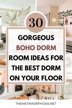 OMG these boho dorm room ideas are literally AMAZING! Every college student needs to see these boho bedroom ideas if they love the bohemian aesthetic! #boho #college #bohemian