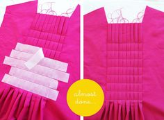 Awesome tutorial for some nice pleats. Project Run and Play: Sewing Friends: Marta from Do Guincho
