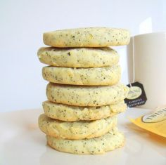 """Earl Grey Shortbread - """" I would sit in the living room with their dogs drinking mug after mug of tea and stress-eating Earl Grey shortbreads from Marks & Spencer. How very English."""" (The Edible Woman: Maldon)"""